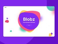 Blobz landing page
