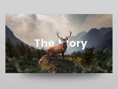 Deer Parallax in Torus Kit forest exploration web ui landing page bootstrap javascript html css interaction animation tilt effect parallax torus kit