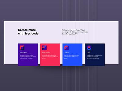 Torus Kit Homepage Part minimal clean geometric torus kit design ui