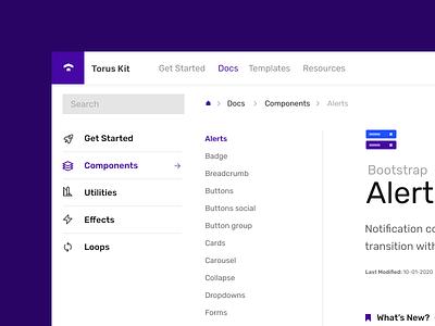 Docs snapshot docs documentation clean minimal design flat torus kit css bootstrap