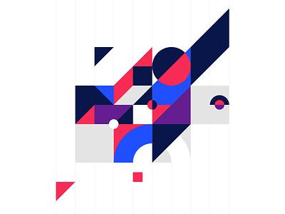 Homepage illustration shapes geometric minimal vector ui design illustration torus kit