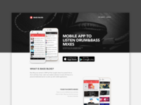 Bass Blog for Mobile | Landing Page