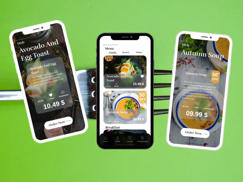 Food App Concept cooking icon interface cooking app food ui ux app