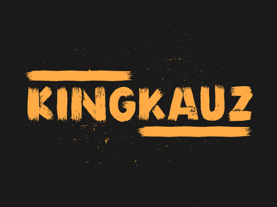 KINGKAUZ Type Experiment typography illustration font