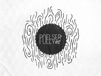 Pœlserpolly logo stamp illustration