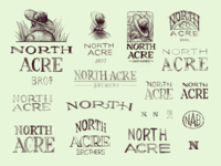 North Acre Brew Co Logo Sketches 1