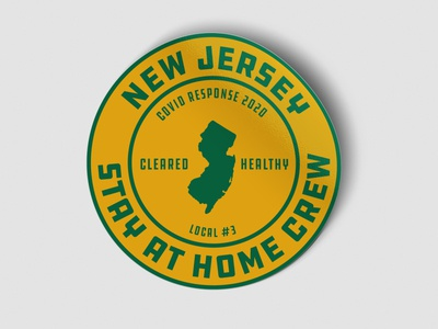 NJ Stay at home crew new jersey stayathome sticker covid19