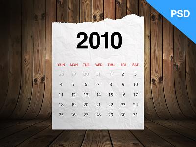 Realistic Calendar (Freebie) free freebie calender realistic paper numbers torn paper psd