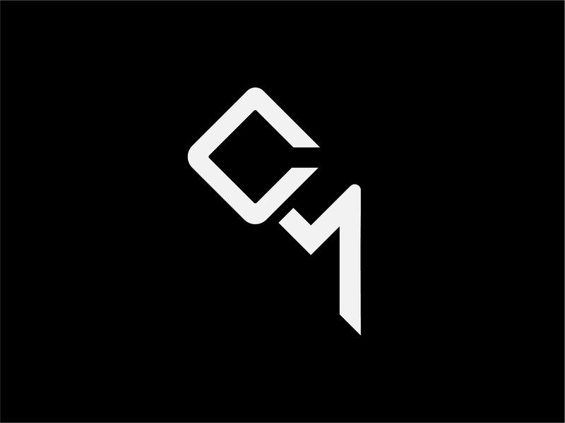 CM logo mark vector logomark lettermark branding logo