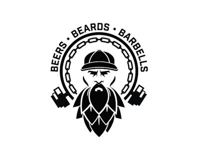 Beers • Beards • Barbells beers branding logo gym weights beards beer
