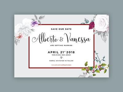 Save the Dates typography marriage save the date wedding