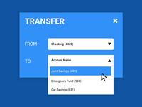 Bank Widget - UI CHALLENGE
