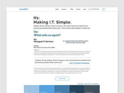 IT Style Guide web design spec guide ui style guide