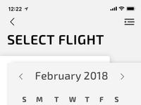 Select departure