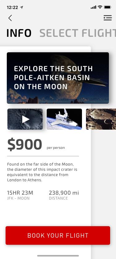 Moon destination