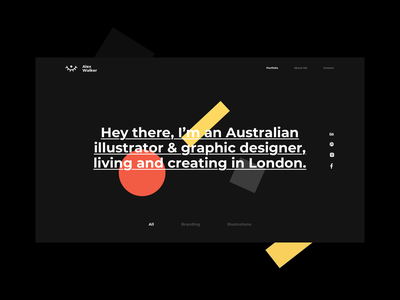 Elementor Portfolio Template Kit gallery websitetemplate webdesign web typography ui homepage ui homepagedesign design elementor vector illustration webtemplate template graphicdesign portfolio website hero uiux