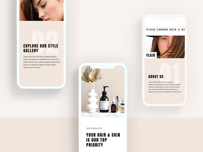 Hair Studio Template Kit elementor templates uxdesign hairsalon beauty salon mobile app design mobile design hero homepage interaction design uiux uidesign web design webdesign mobile ui mobile web ux ui brand design