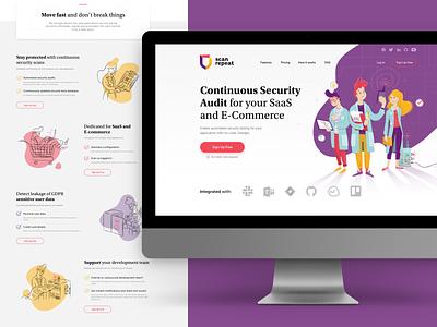 Scan Repeat website success message pricing landing page ui design webdesign website design ui character design vector illustration illustration