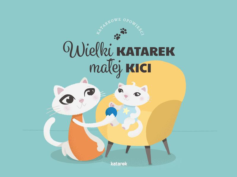 Cat & kitten kitten cat childrens illustration childrens book illu illo drawing character design vectors vector vector illustration illustration
