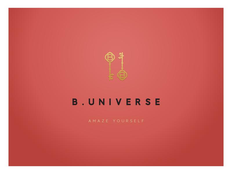 B. UNIVERSE logo fashion brand brand brand design corporate identity logo logo design branding