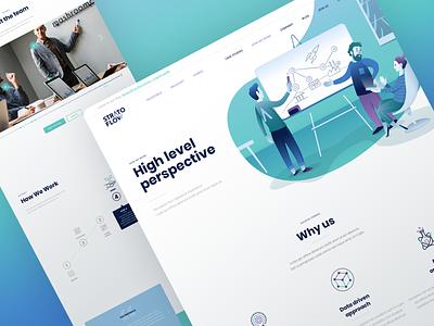 Stratoflow – How We Work how we work process flow process webdesign website user interface character design vector vector illustration illustration ui