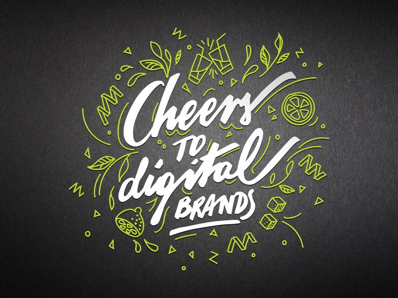 Cheers! branding vector claim handmade type calligraphy handlettering lettering
