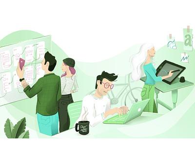 DESIGN + DEVELOPMENT design vectors character design ui team illustrator illustration vector illustration vector
