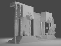 Gris 3d model model game art game architecture scene blender 3d