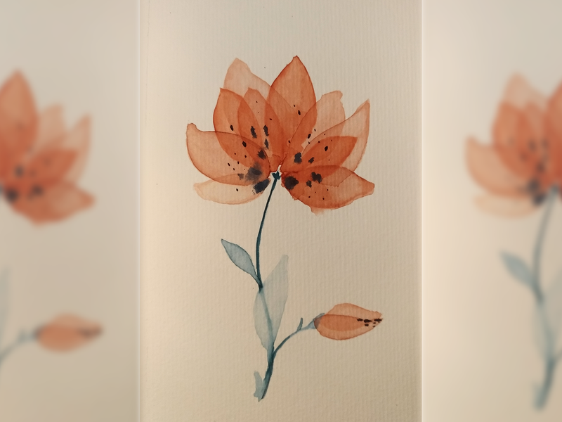 Watercolor flower excercise doodle exercise flower watercolour art watercolor