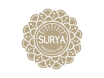 Logo SURYA mandala sun logo