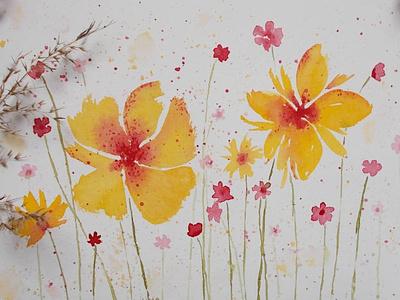 Floral doodles aquarelle doodling doodles floral watercolor