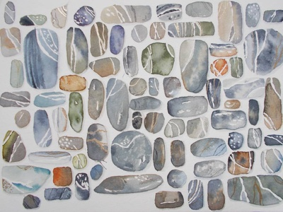 Watercolor rock doodles watercolordoodles watercolordoodles watercolor art rocks doodles watercolor