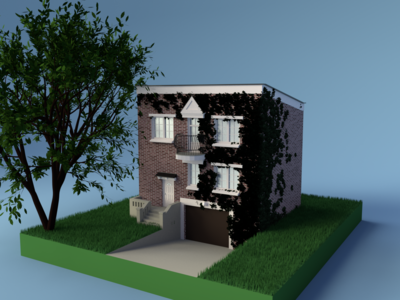 The House blender architechture 3d