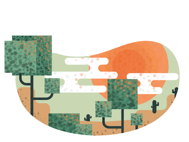 Illustration 1 desert isometric illustration