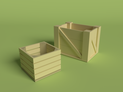 Boxes Low Poly blender 3d