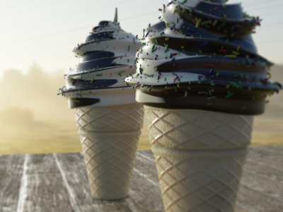 Icecreams icecream summer blender 3d