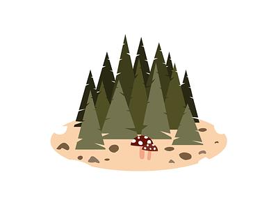 Illustration trees autum vector illustration vector adobe illustrator illustration