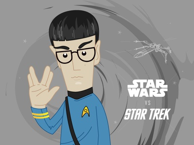 Spock me up! spock space startrek starwars illustration