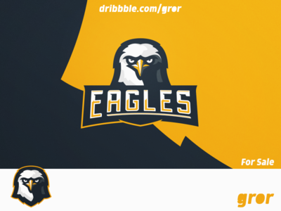 Eagles Mascot Logo logo design sale for sale hawk falcon logoground head gaming esport gror logo mascot eagles eagle bird