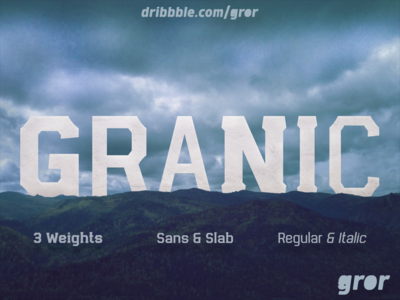 Granic Font Family regular italic bold myfonts gror esport slab serif slab serif sans typography display sport font family font granic