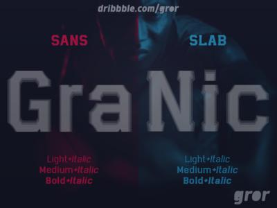 Granic Font Sans & Slab slab sans granic esport sport font family typeface myfonts gror display font type awesome font