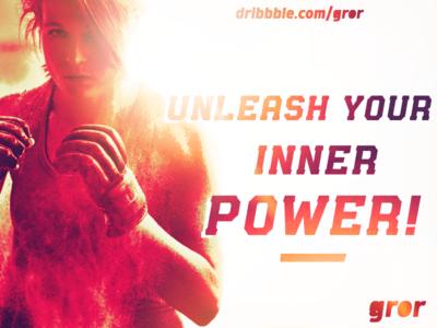 Unleash Your Inner Power granic slab sans esport sport font display typeface type myfonts gror