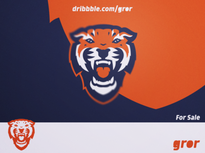 Tiger Mascot Logo tigers feline tiger team head mascot sport logoground logo design esport logo gror
