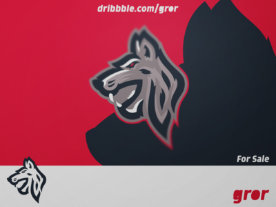 Wolf Mascot Logo head mascot sport logoground logo design esport logo gror wild animal wolves wolf