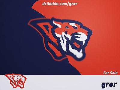 Tiger Logo roar tigers tiger wild for sale head mascot sport esport logo design logoground logo gror