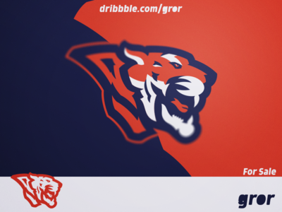 Tiger Logo roar tigers tiger wild for sale head mascot sport esport logo design logoground logo gror