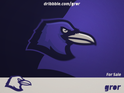 Raven Logo ravens gaming craw raven bird for sale head mascot sport esport logo design logoground logo gror