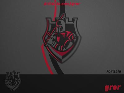 Knight Logo worrior gaming sword medieval helmet shield king knights knight logo design for sale mascot sport esport logoground logo gror paladin