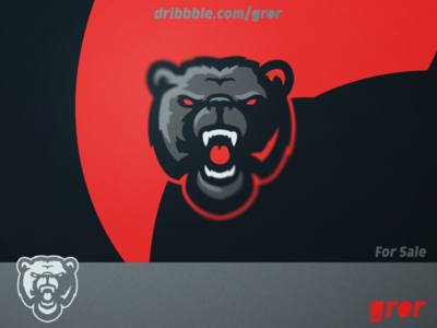 Bear Logo angry wild grizzly roar bears bear head for sale mascot sport esport logo design logoground logo gror