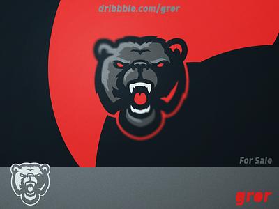 Bear Logo angry wild grizzly roar bears bear head for sale mascot sport esport logo design logoground logo gror